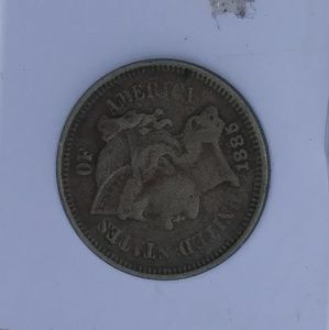 1885 three pence nickel